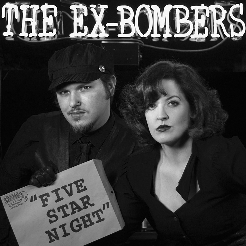 "The Ex-Bombers promotional photo and album cover from their second LP ""Five Star Night."""